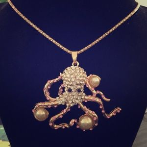 Jewelry - Playful Iced Out Octopus 🐙 BJ Necklace